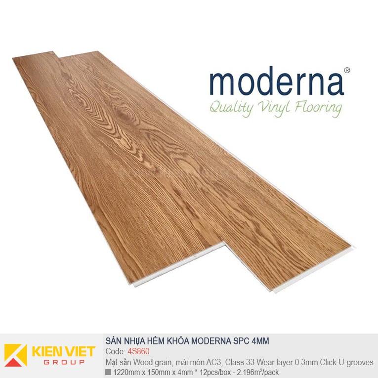 Sàn nhựa hèm khóa Moderna SPC 4S860 | 4mm