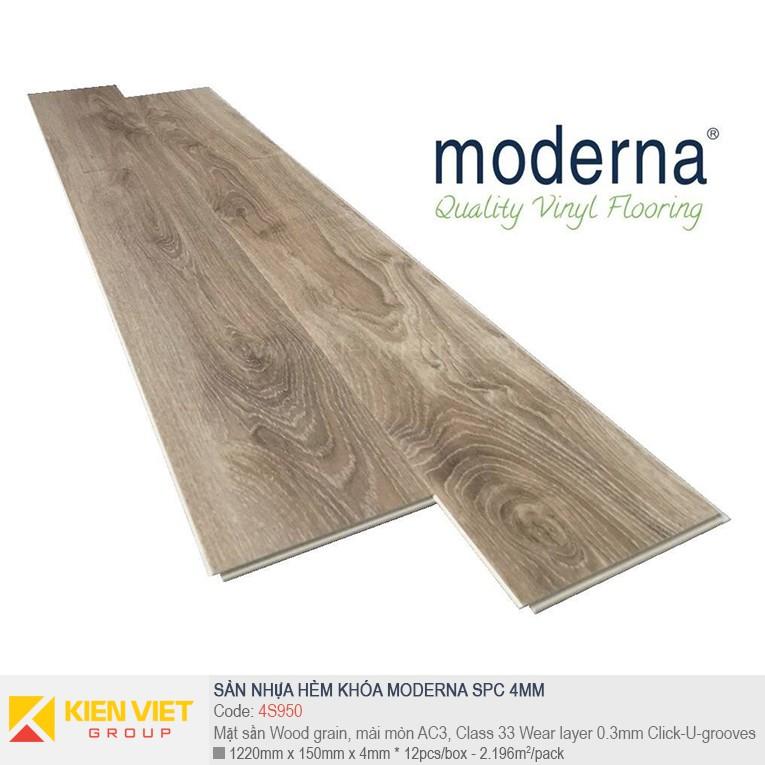 Sàn nhựa hèm khóa Moderna SPC 4S950 | 4mm