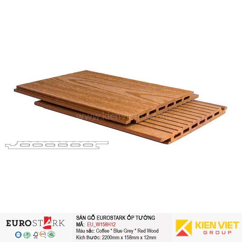 Sàn gỗ ngoài trời ốp tường ngoại thất EuroStark EU-W158H12