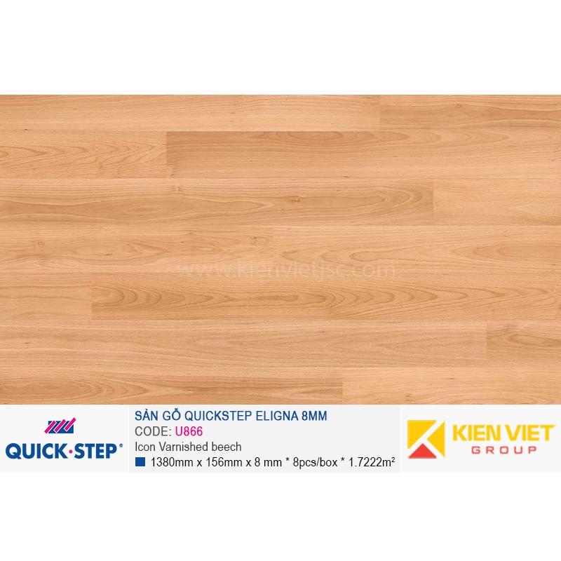 Sàn gỗ Quickstep Aligna Icon Varnished beech U866   8mm