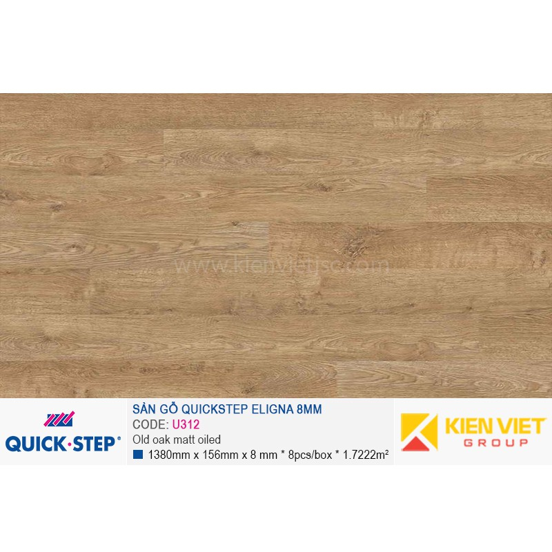 Sàn gỗ Quickstep Aligna Old oak matt oiled U312 | 8mm