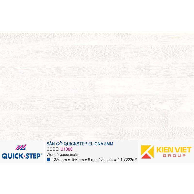 Sàn gỗ Quickstep Aligna Wengé passionata U1300   8mm