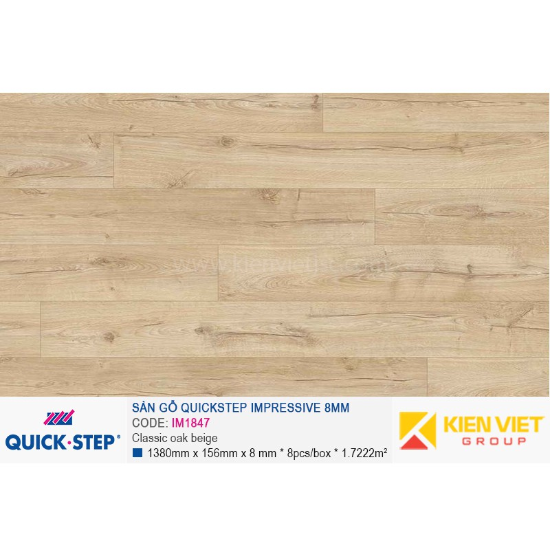 Sàn gỗ Quickstep Aligna White varnished oak U915 | 8mm