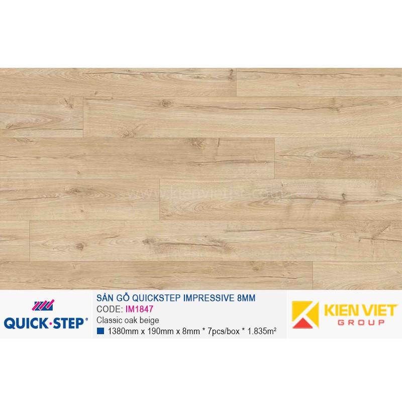 Sàn gỗ Quickstep Impressive Classic oak beige IM1847   8mm