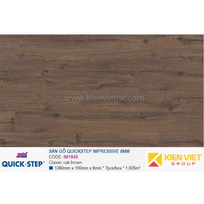 Sàn gỗ Quickstep Impressive Classic oak brown IM1849 | 8mm