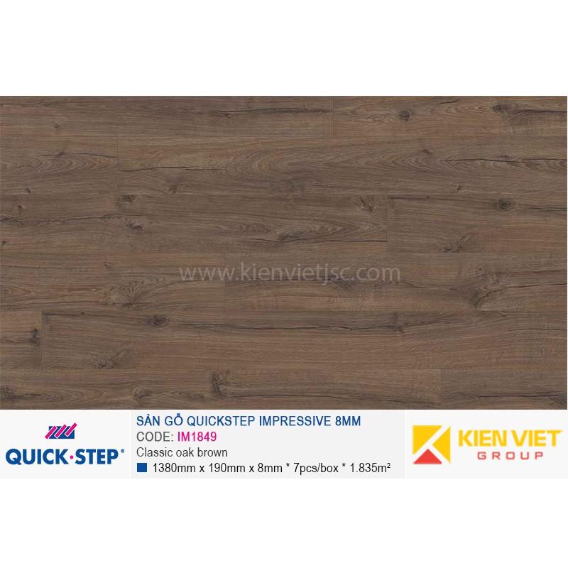 Sàn gỗ Quickstep Impressive Classic oak brown IM1849   8mm