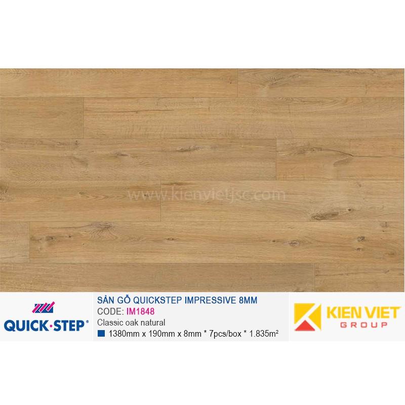 Sàn gỗ Quickstep Impressive Classic oak beige IM1848   8mm