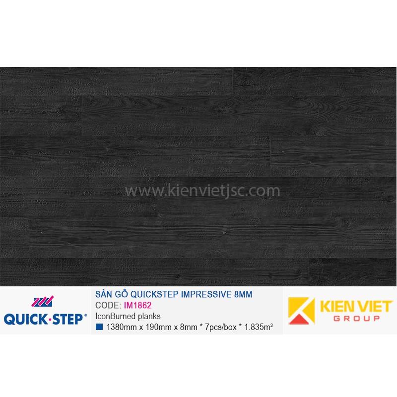 Sàn gỗ Quickstep Impressive Icon Burned planks IM1862   8mm