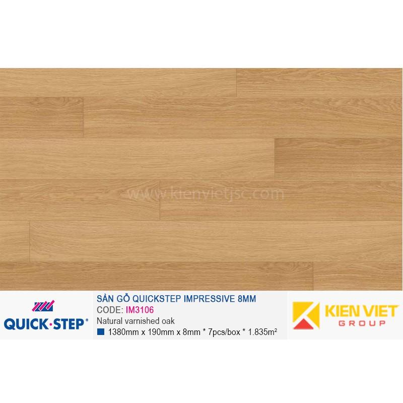 Sàn gỗ Quickstep Impressive Natural varnished oak IM3106   8mm