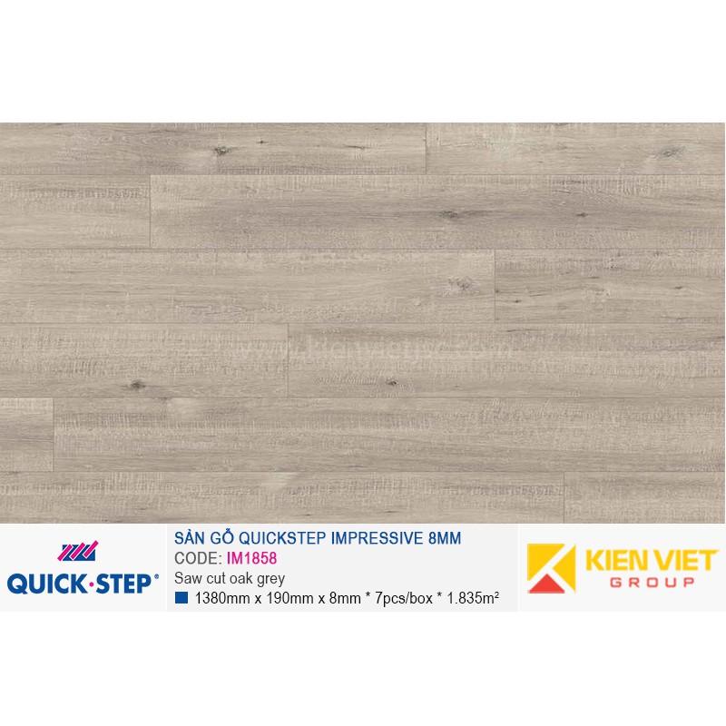 Sàn gỗ Quickstep Impressive Saw cut oak grey IM1858   8mm