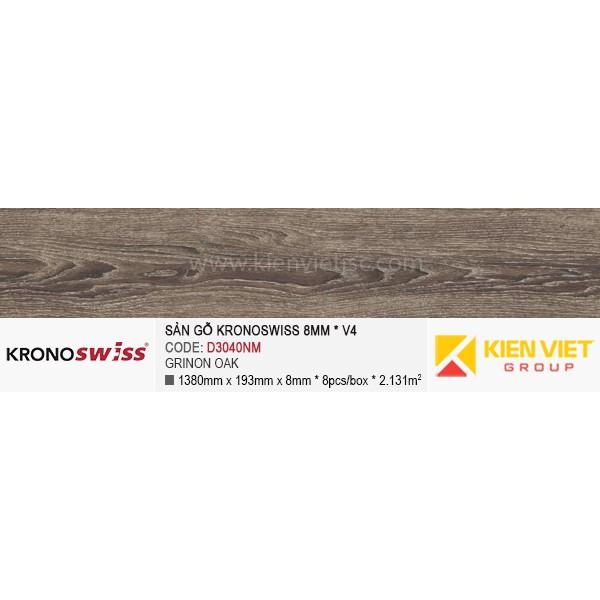 Sàn gỗ Kronoswiss D3040NM Grinon Oak   8mm