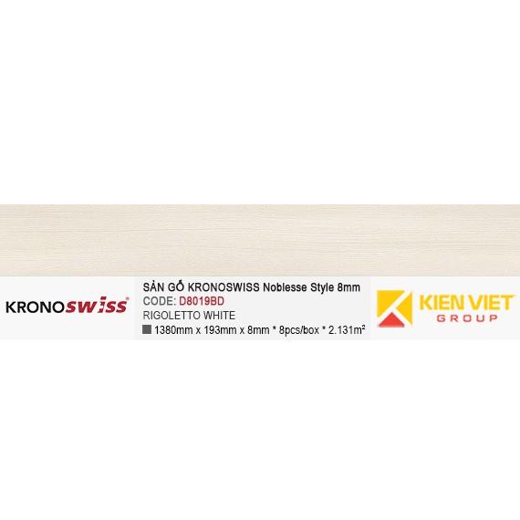 Sàn gỗ Kronoswiss D8019BD Rigoletto white | 8mm