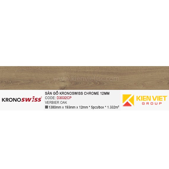 Sàn gỗ Kronoswiss D3032CP Verbier Oak   12mm