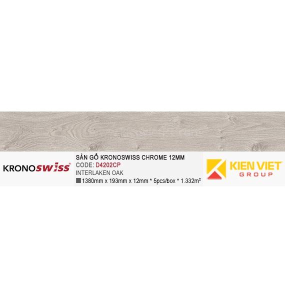 Sàn gỗ Kronoswiss D4202CP Interlaken Oak   12mm