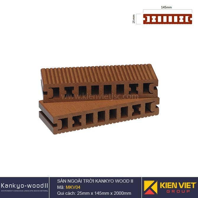 Sàn gỗ ngoài trời Kankyo-wood II | MKV04 Wood