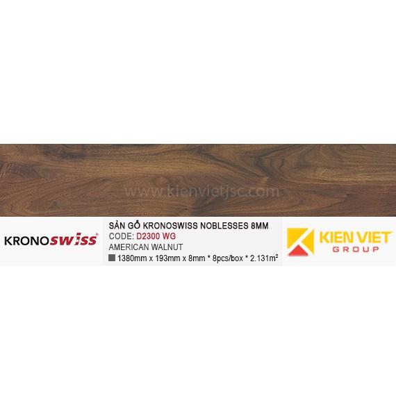 Sàn gỗ Kronoswiss D2300WG AMERICAN WALNUT | 8mm