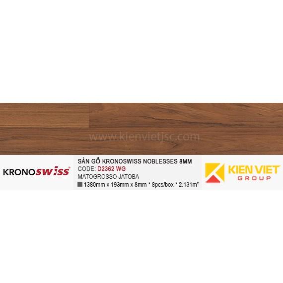 Sàn gỗ Kronoswiss D2362WG MATOGROSSO JATOBA | 8mm