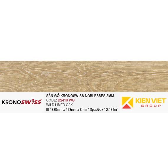 Sàn gỗ Kronoswiss D2413WG WILD LIMED OAK | 8mm