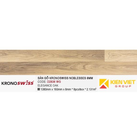 Sàn gỗ Kronoswiss D2836WG ELEGANCE OAK | 8mm