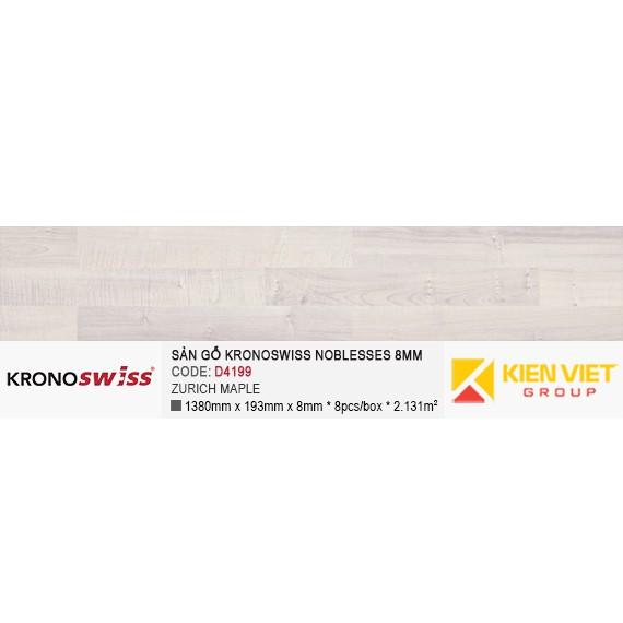 Sàn gỗ Kronoswiss D4199 ZURICH MAPLE | 8mm