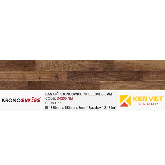 Sàn gỗ Kronoswiss D4200NM BERN OAK | 8mm