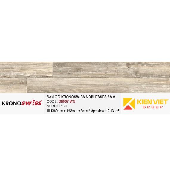 Sàn gỗ Kronoswiss D8007WG NORDIC ASH | 8mm