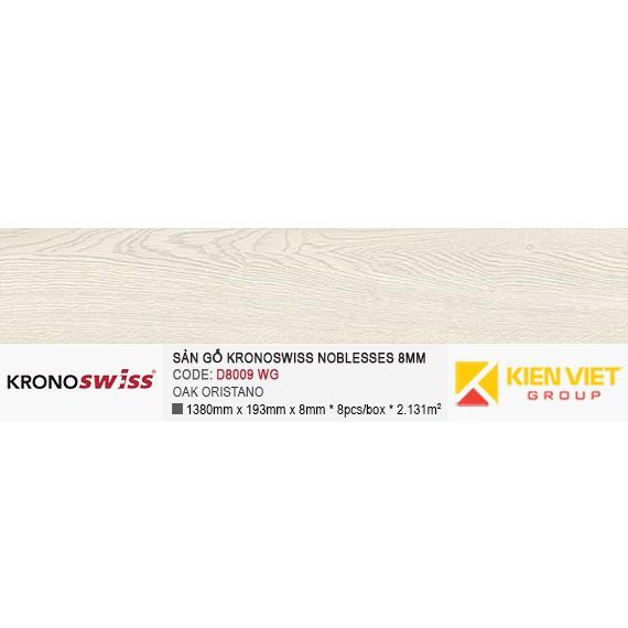 Sàn gỗ Kronoswiss D8009WG OAK ORISTANO | 8mm