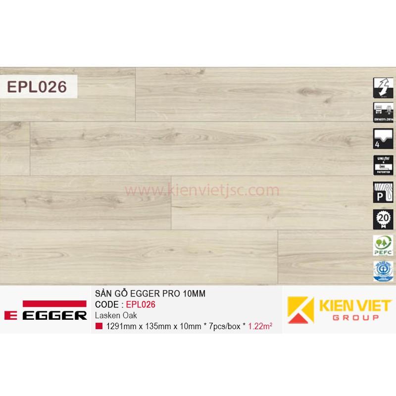Sàn gỗ Egger Pro EPL026 Natural Canton Oak   10mm