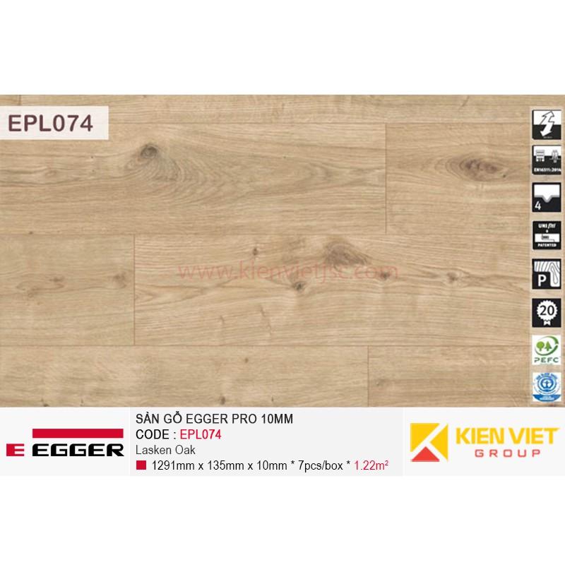 Sàn gỗ Egger Pro EPL074 Light Dunnington Oak | 10mm
