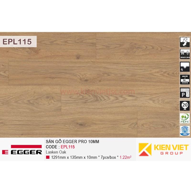 Sàn gỗ Egger Pro EPL0115 Natural Starwell Oak | 10mm