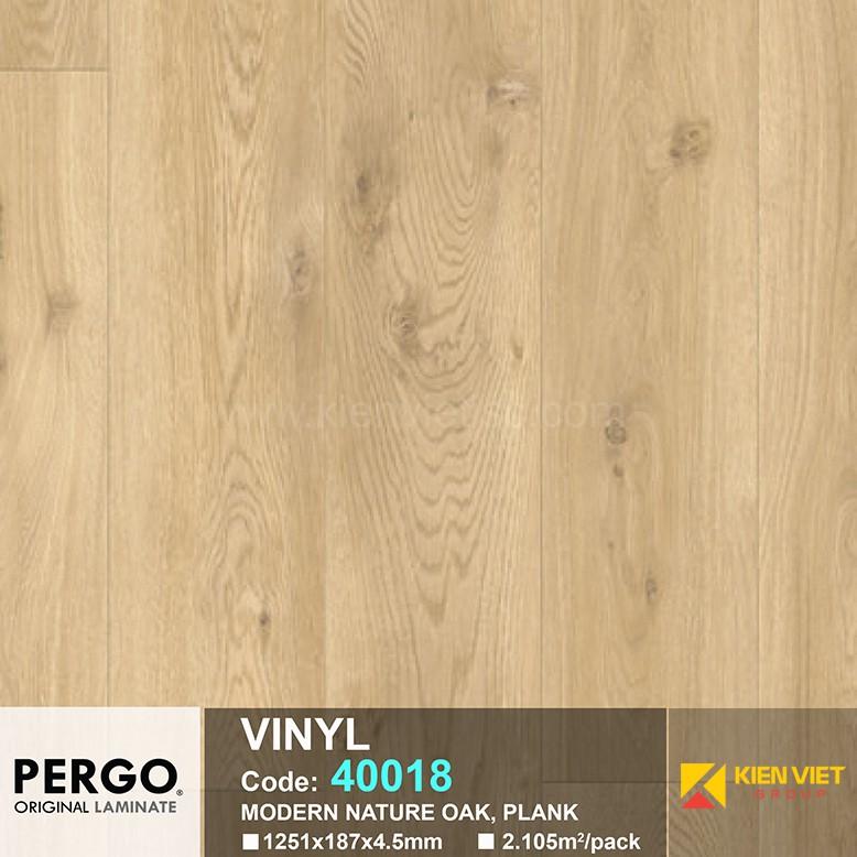 Sàn nhựa hèm khoá Pergo 40018 | 4.5mm