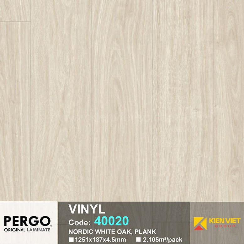 Sàn nhựa hèm khoá Pergo 40020 | 4.5mm