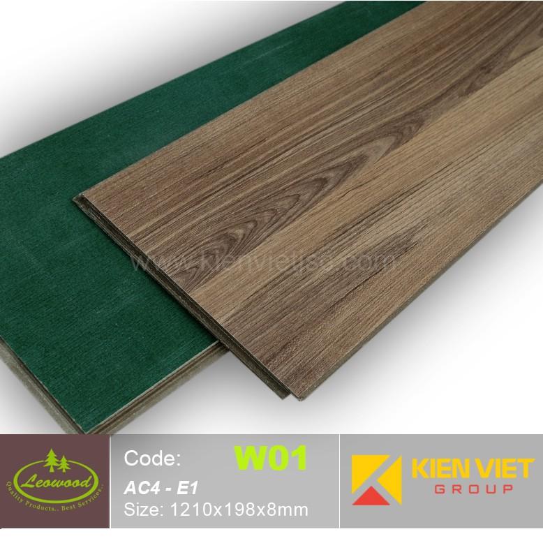 Sàn gỗ công nghiệp Thái lan Leowood W01 AC4 | 8mm