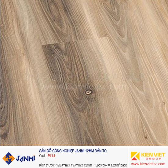 Sàn gỗ Janmi W14 | 12mm bản to