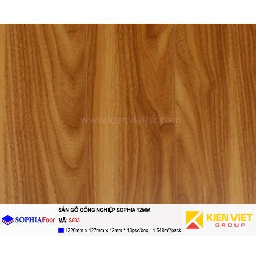 Sàn gỗ công nghiệp Sophia S603 | 12mm
