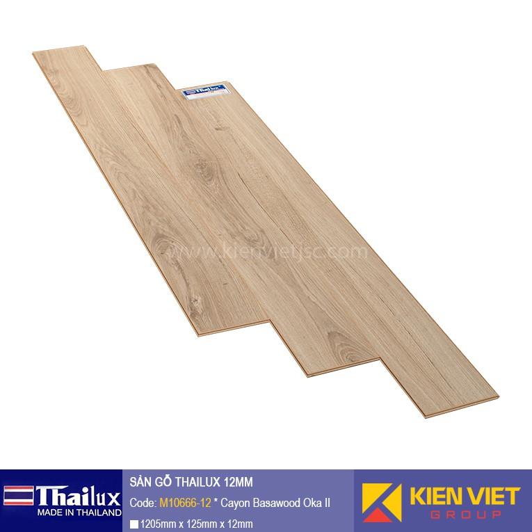 Sàn gỗ Thailux M10666-12 bản nhỏ | 12mm