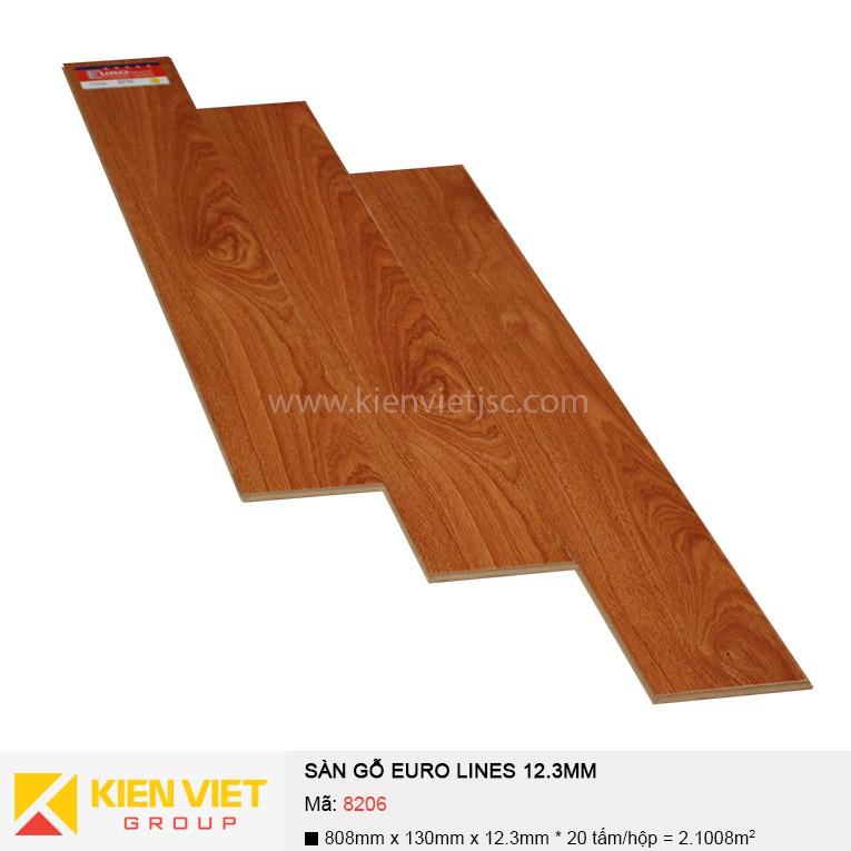 Sàn gỗ công nghiệp Euro Lines 8206 | 12.3mm