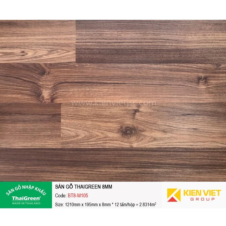 Sàn gỗ công nghiệp Thaigreen BT8-M105 | 8mm