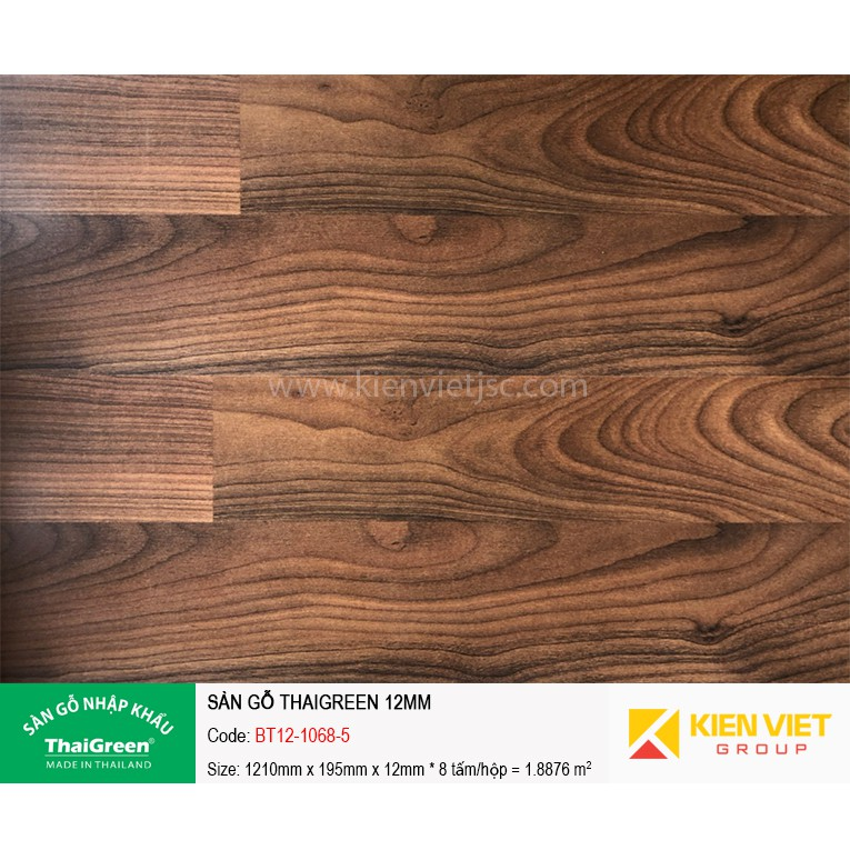 Sàn gỗ công nghiệp Thaigreen BT12-1068-5 | 12mm