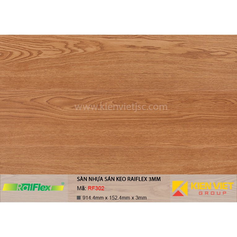 Sàn nhựa dán keo Raiflex RF302 | 3mm