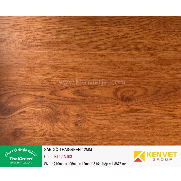 Sàn gỗ công nghiệp Thaigreen BT12-N103 | 12mm