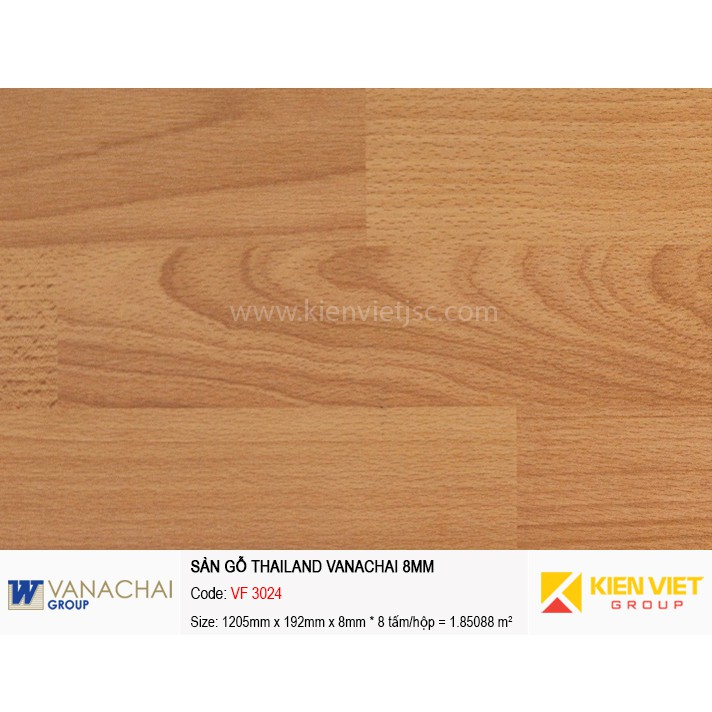 Sàn gỗ công nghiệp Vanachai VF 3024   8mm
