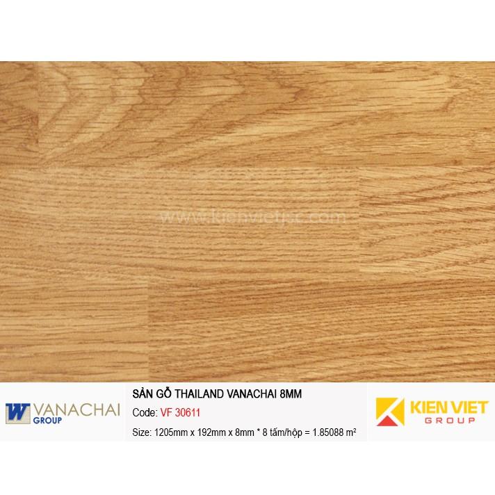 Sàn gỗ công nghiệp Vanachai VF 30611   8mm