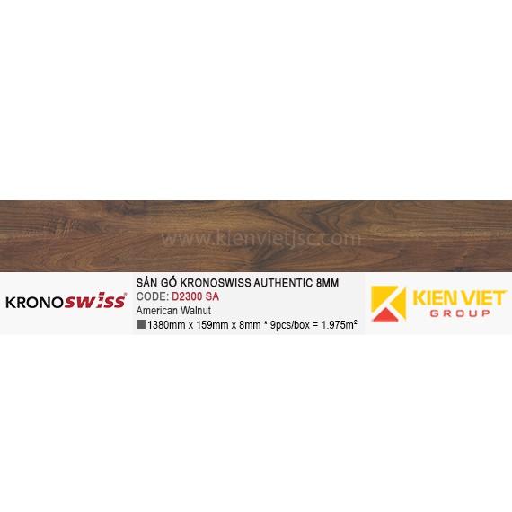 Sàn gỗ Kronoswiss Authentic D2300SA American Walnut | 8mm