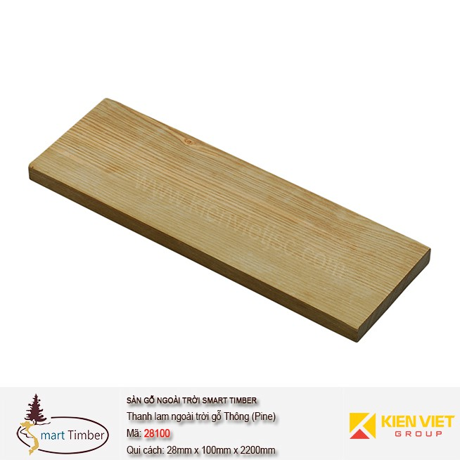 Thanh lam ngoài trời Smart Timber 28100 Thông (Pine)
