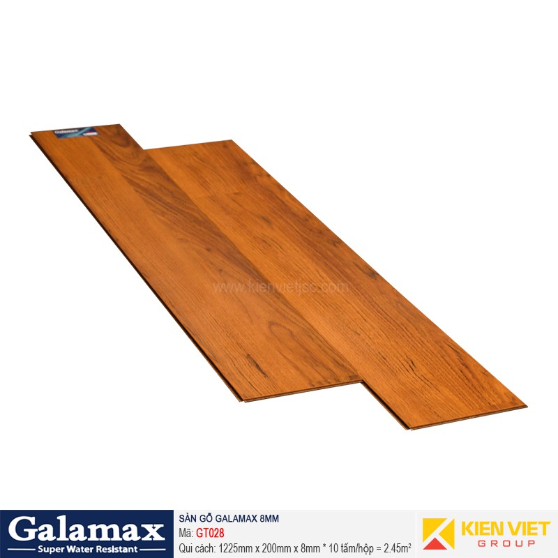Sàn gỗ công nghiệp Galamax GT028   8mm