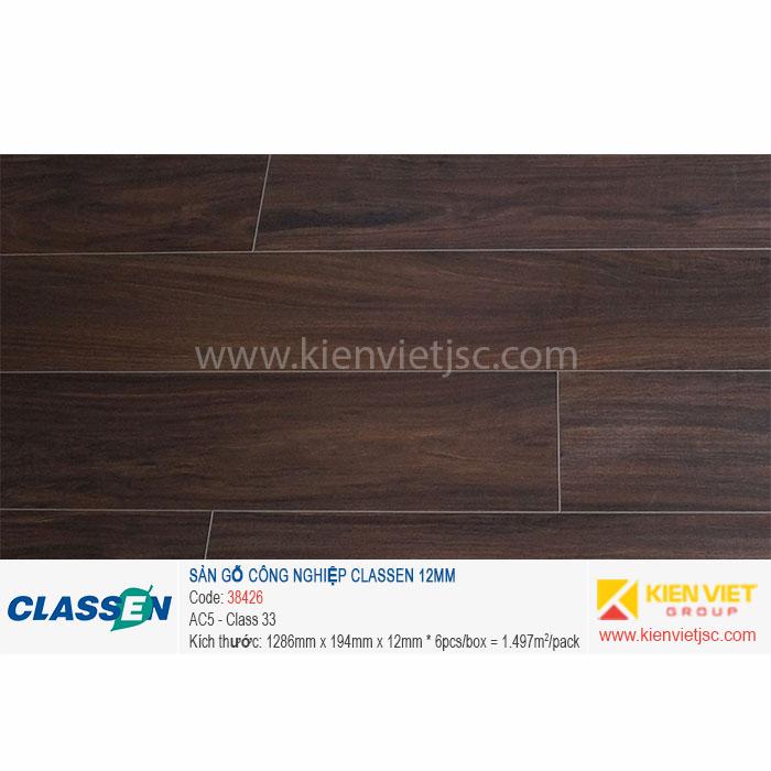 Sàn gỗ Classen AC4 38426   12mm
