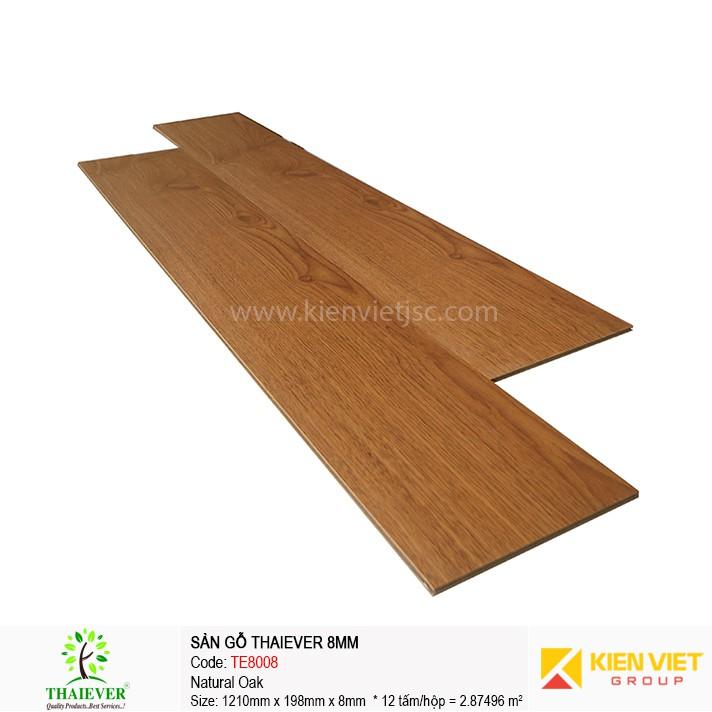Sàn gỗ công nghiệp Thaiever TE8008 Natural Oak | 8mm