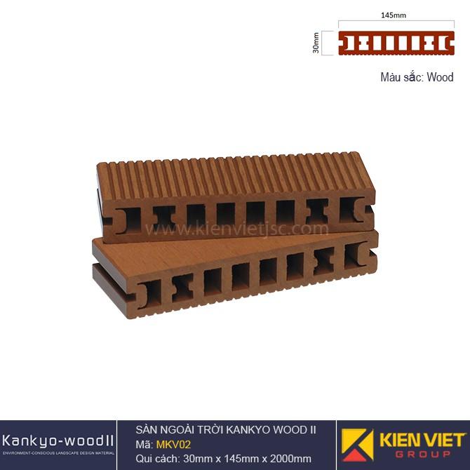 Sàn gỗ ngoài trời Kankyo-wood II | MKV02 Wood