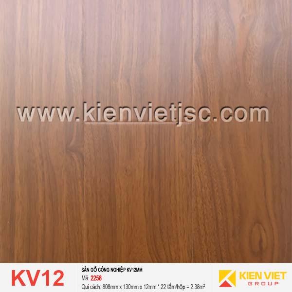 Sàn gỗ giá rẻ KV12 - 2258